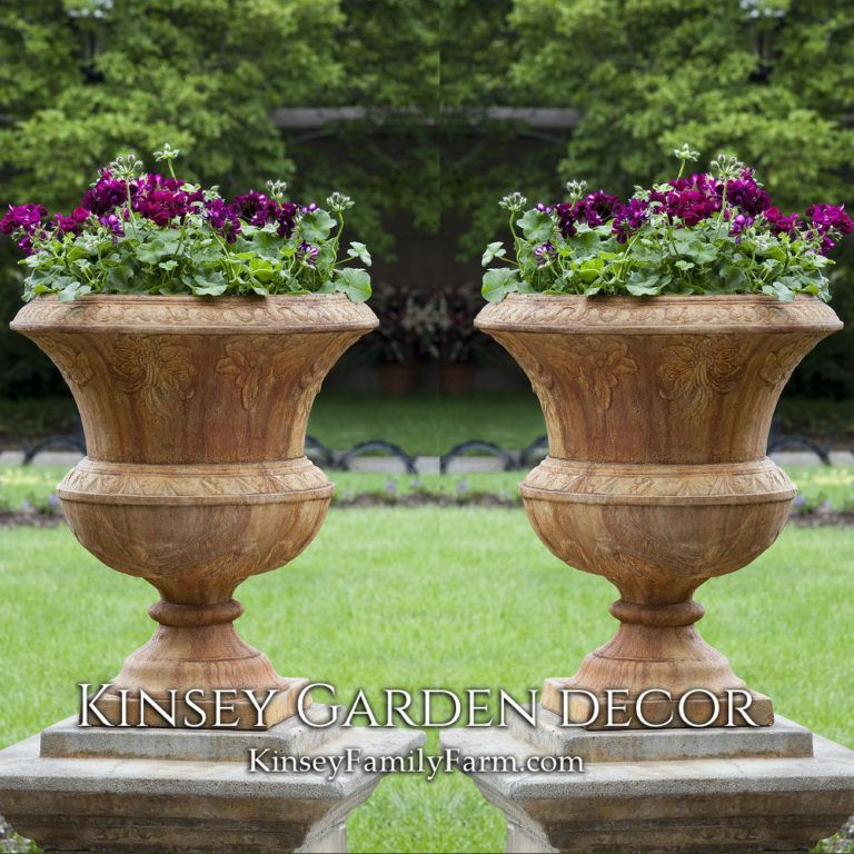 Kinsey Garden Decor Tall Smithsonian Flight Of Fancy Cast Stone Outdoor Urn Planters Ornate European Plant Patio Container Gardening Urn Planters Garden Urns