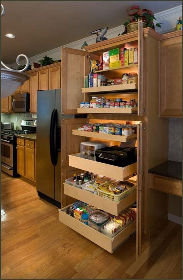 40 DIY Ideas Kitchen Cabinet Organizers 20 #cabinet #DIY #ideas #kitchen #kitchen_pantry_cabinets_diy #organizers #cabinetorganizers