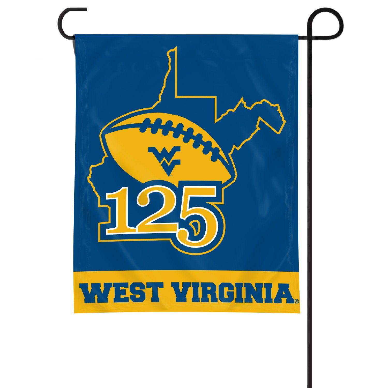 125 years of wvu football garden window flag