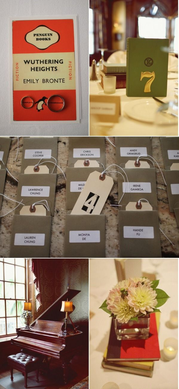 Boston Literary Themed Wedding From Hello Love Photography