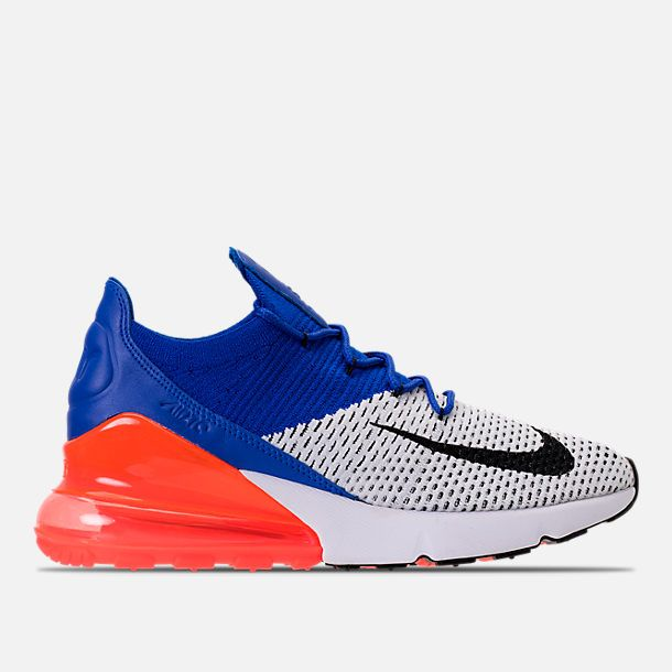 14719cb86 Right view of Men's Nike Air Max 270 Flyknit Casual Shoes in  White/Black/Racer Blue/Crimson