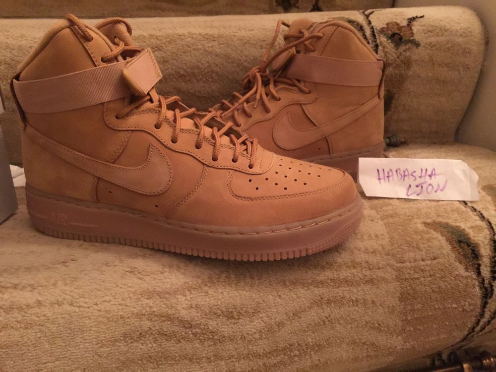 Nike Air Force 1 High '07 LV8 Flax MEN Sz 7-15 Wheat Flax Collection 806403  200