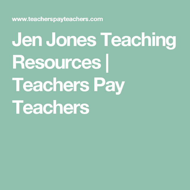 Jen Jones Teaching Resources | Teachers Pay Teachers