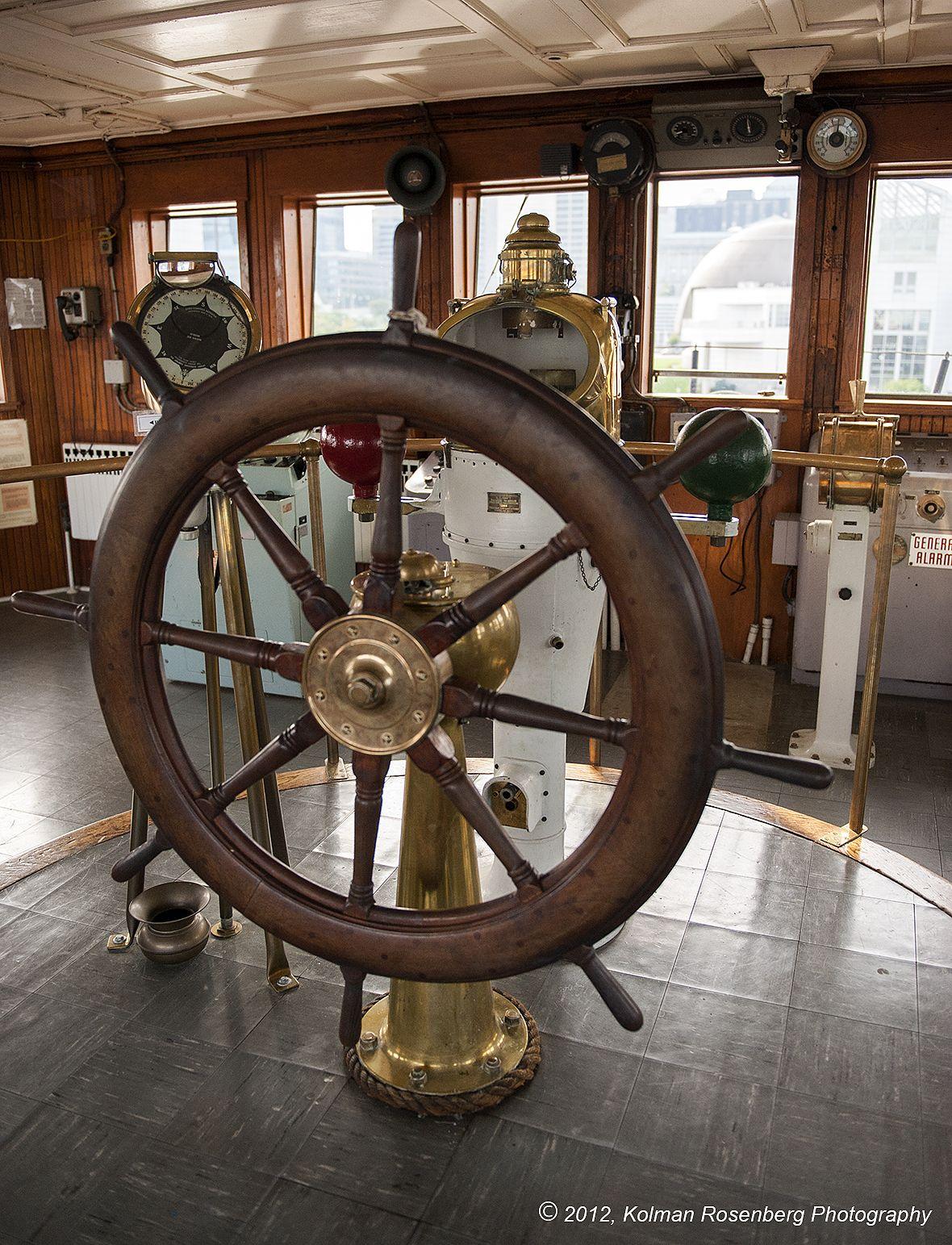 Big Ships Engine Rooms: Ships Telegraph -Wheel & Binnacle