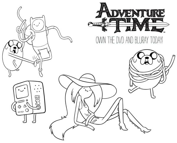 Free Cartoon Network Printable Adventure Time Coloring Page