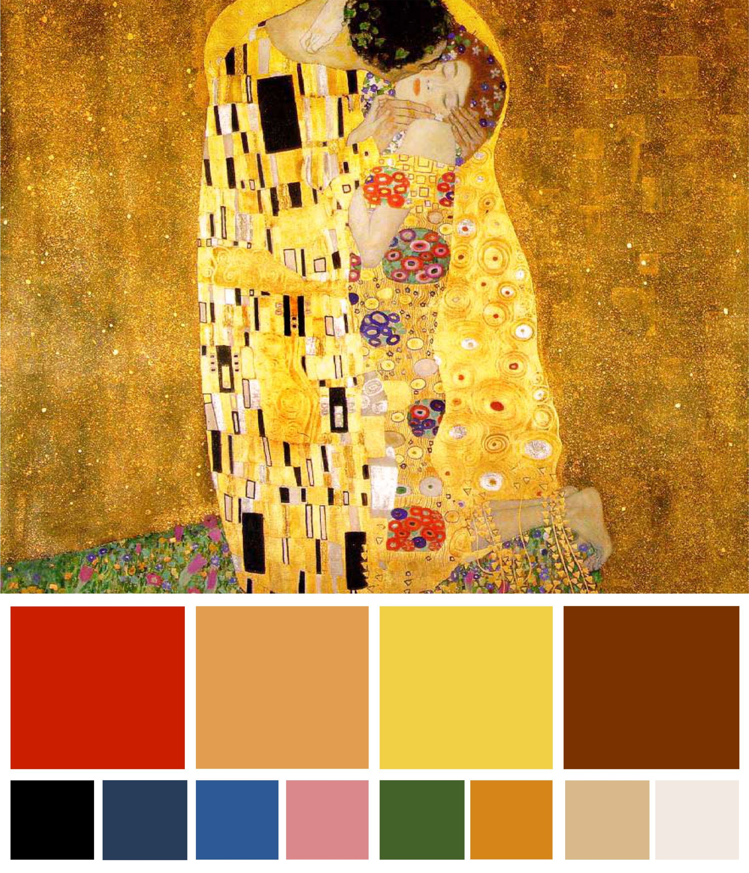 Decorating With Modern Masterpieces The Kiss By Klimt