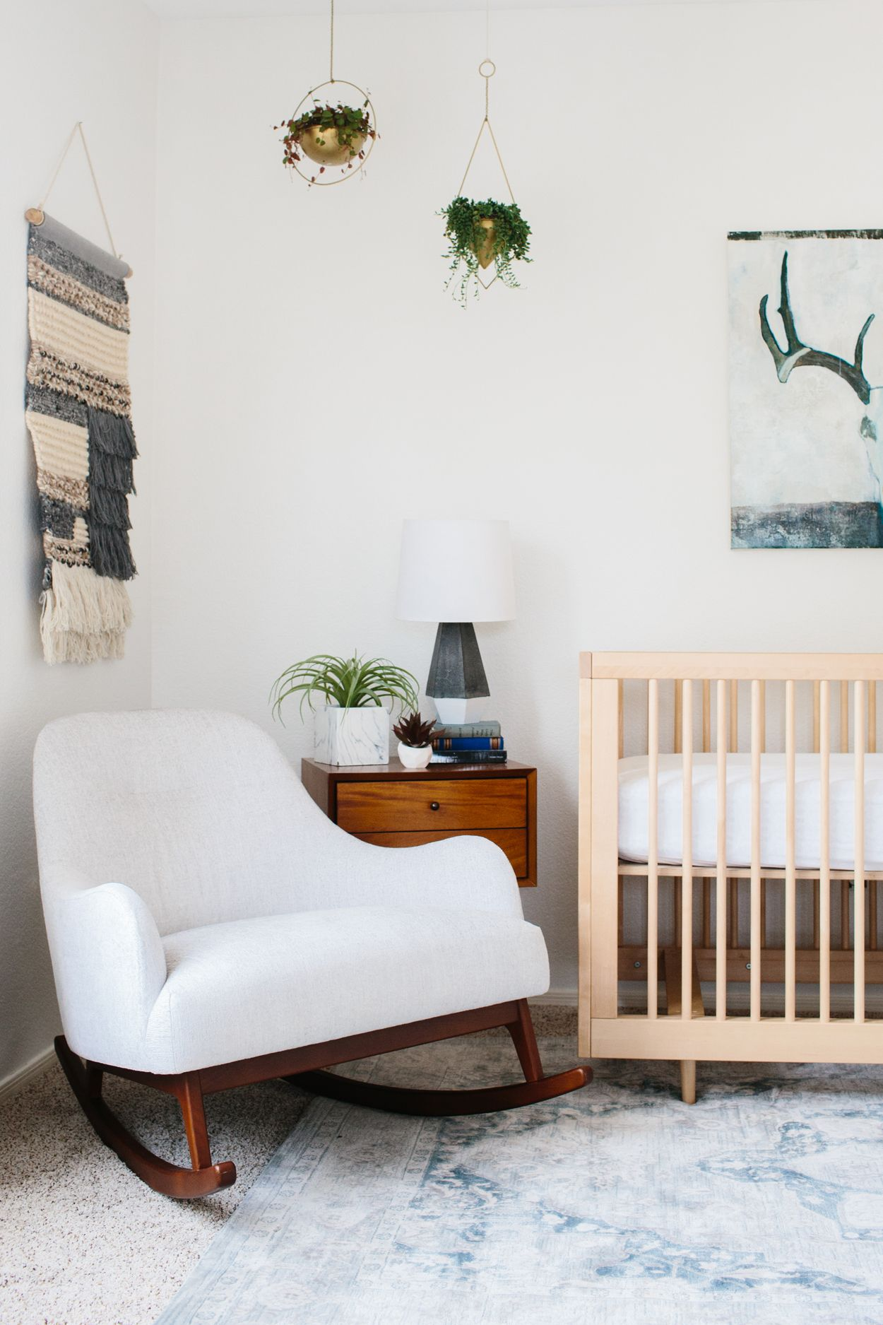 Embrace Coconut White Rocking Chair Rocking chair