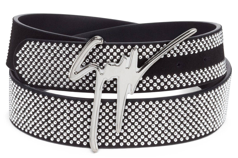 6e34ccf439ee5 Giuseppe Zanotti Belts - GIUSEPPE - Men's Black Belt | For The ...