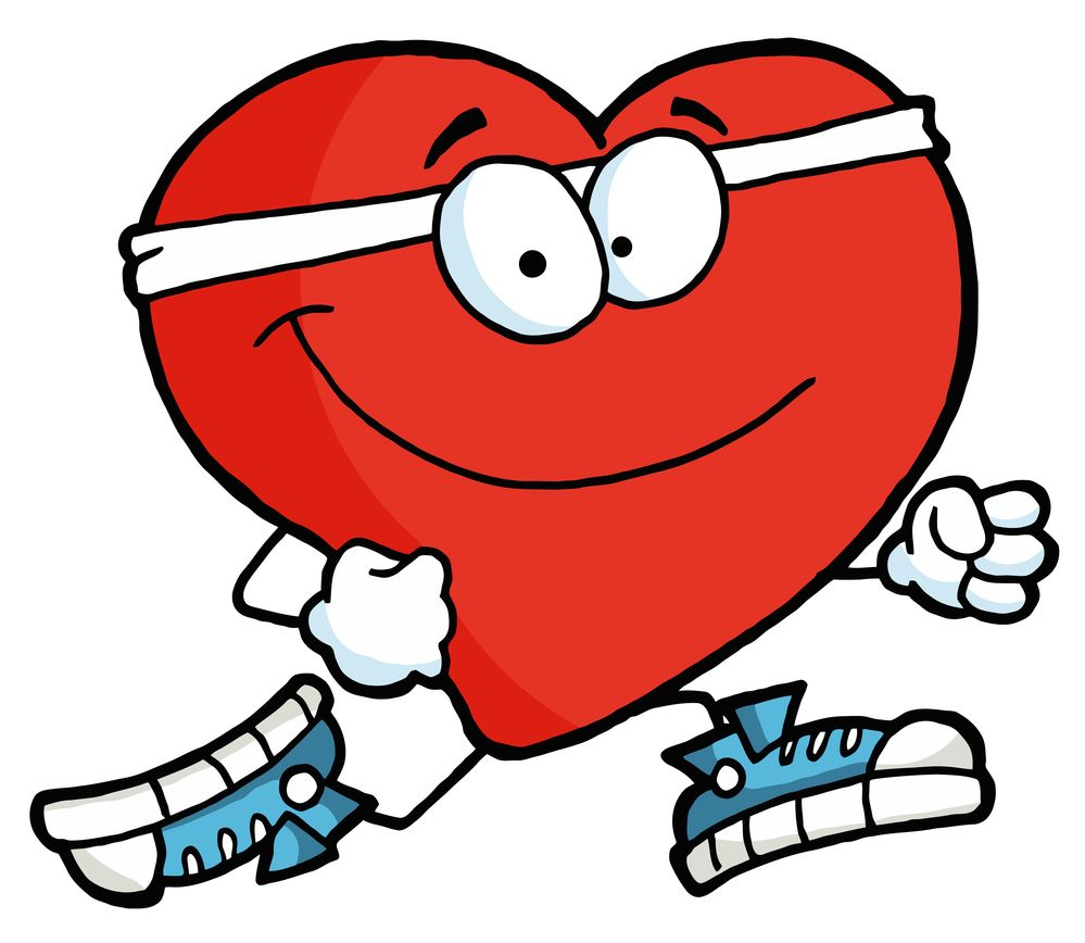 Image result for heart healthy walkathon clipart