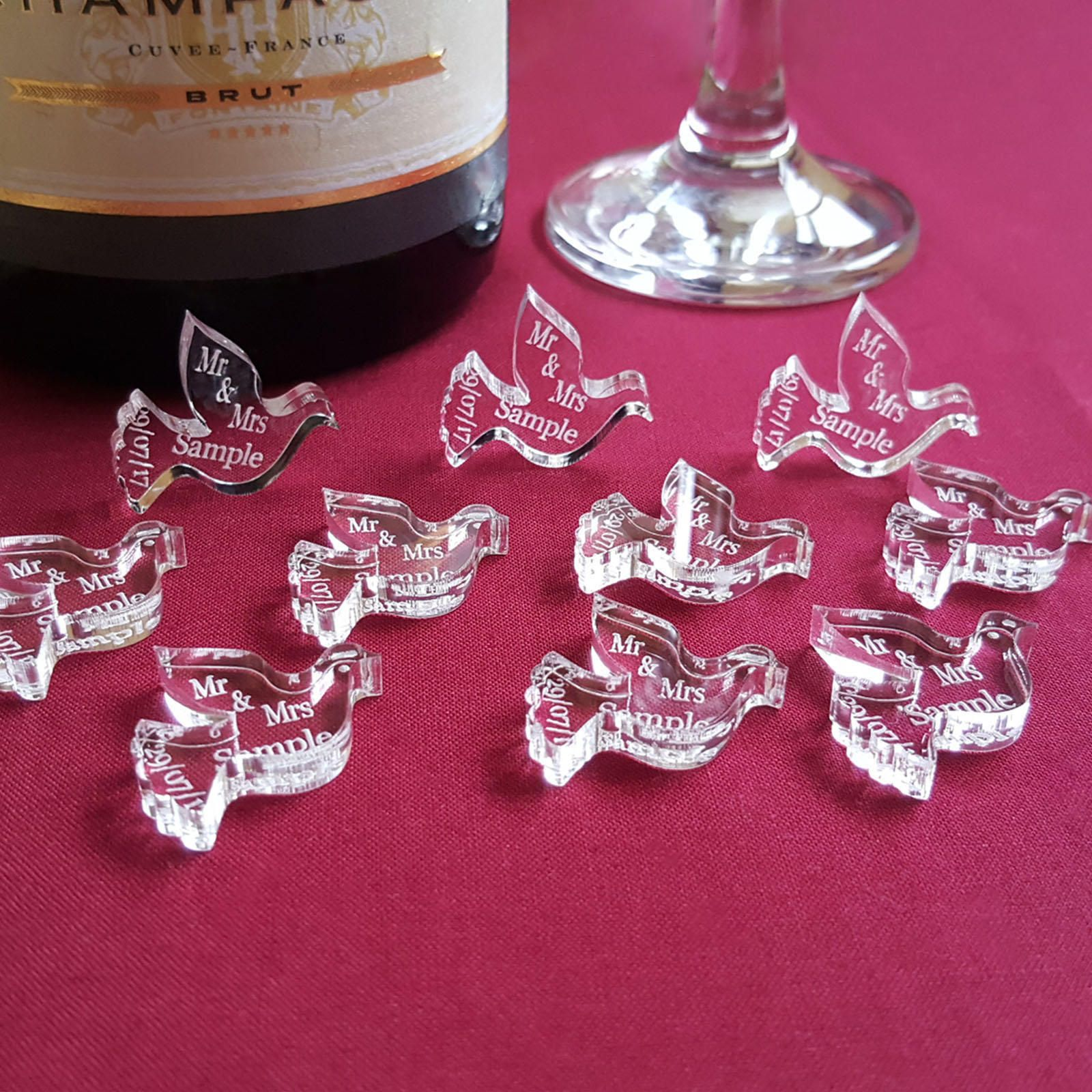 Personalised Dove Wedding Table Decorations | Shape, Wedding table ...