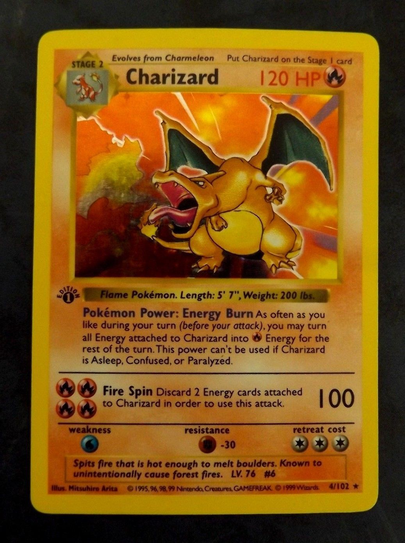 1st edition charizard holo shadowless 4102 pokemon rare