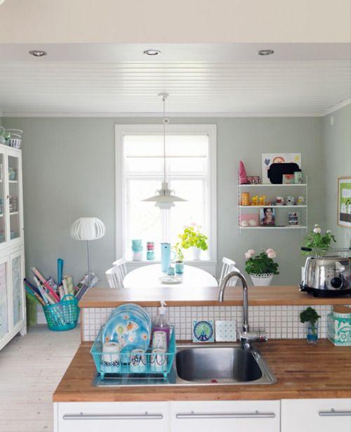 grey walls #kitchen