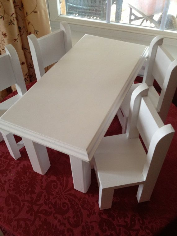 cottage dining kitchen table and four chairs by queenemmadesigns