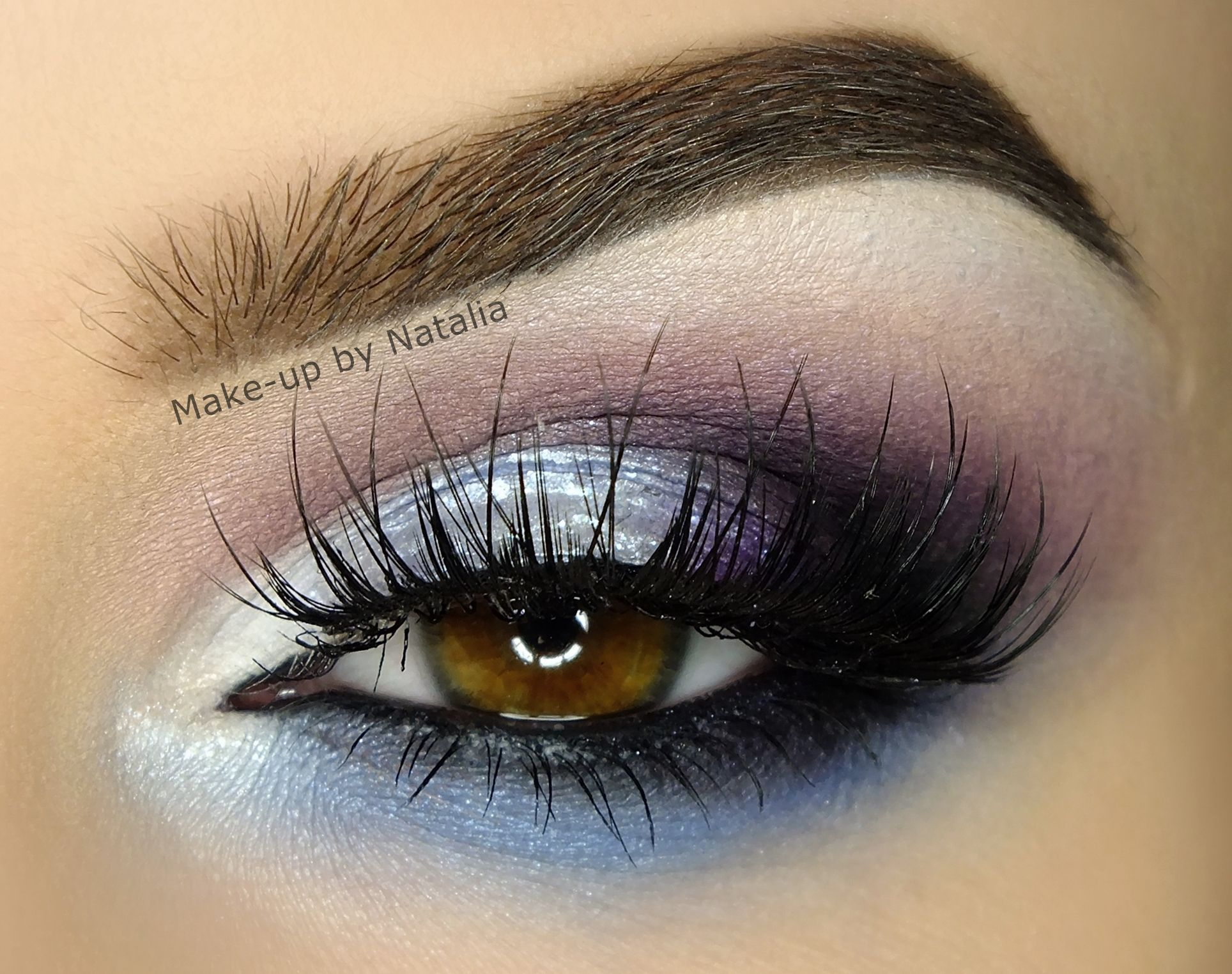 Makeup Geek Eyeshadows in Corrupt, Neptune and Wisteria. Look by: Natalia Piotrowicz