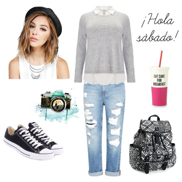 sábado by entaconadasdice on Polyvore featuring polyvore fashion style Studio 8 Genetic Denim Converse Aéropostale Wet Seal Kate Spade