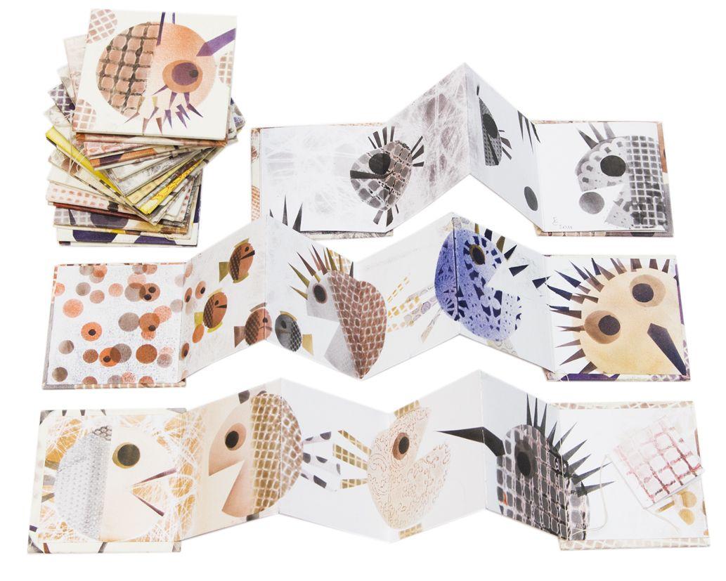 Eleonora Cumer - cute accordian fold artist book