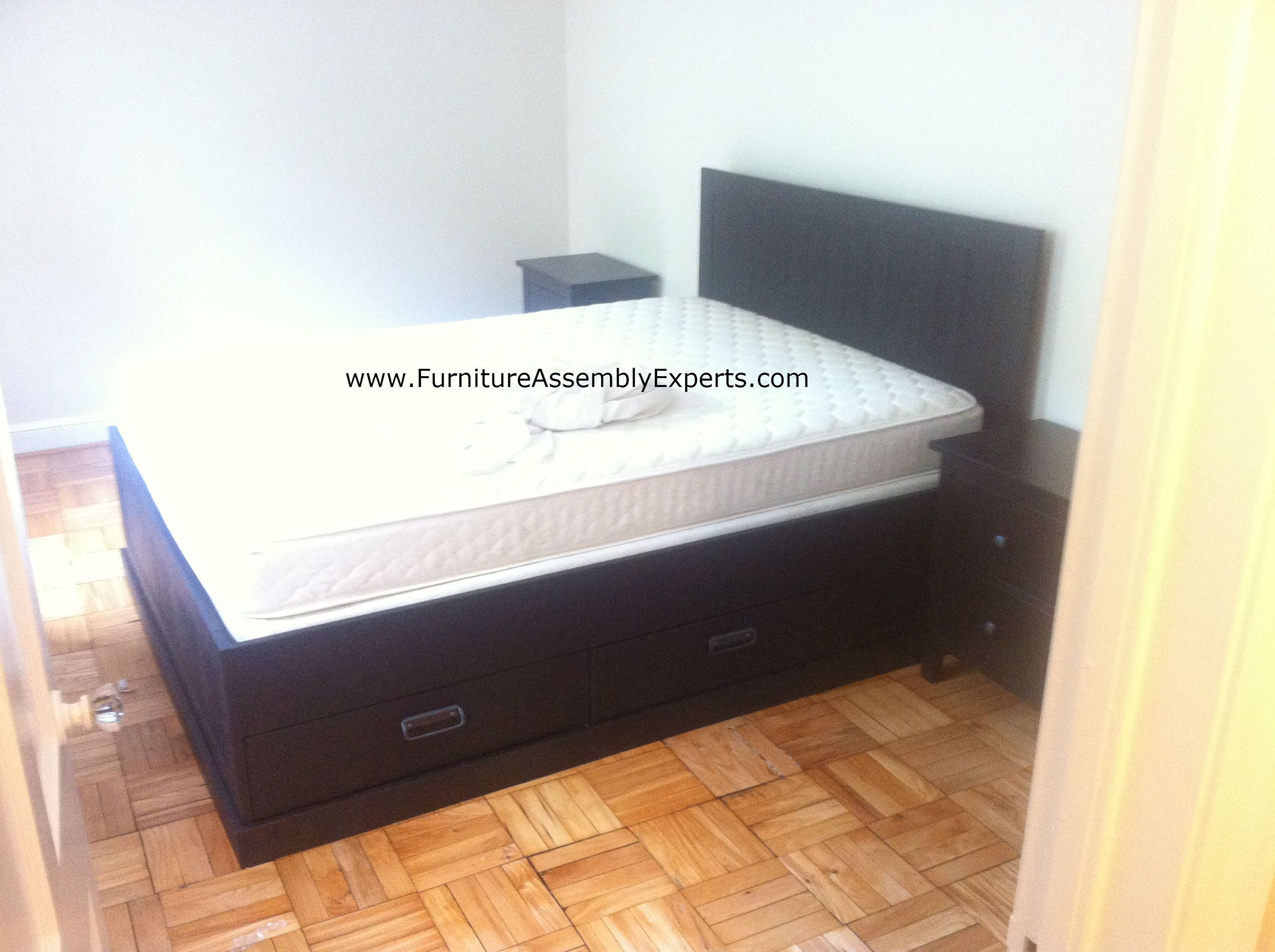 Ikea FJell Storage Bed Assembled In Arlington Va For A Customer Moving Into  Her Apartment By