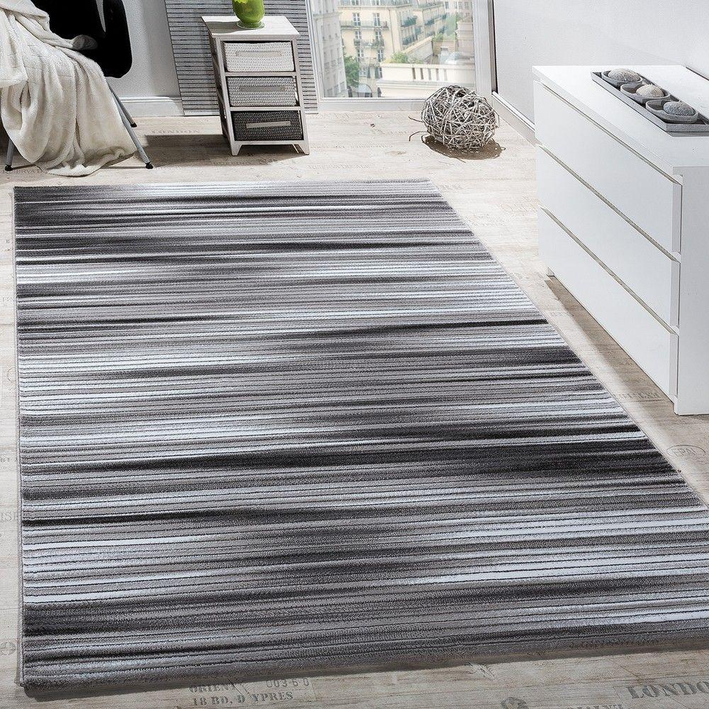 Ein #Streifenmuster In Grau Und Anthrazit! Dieses Teppichdesign Ist  Lebendig! Mehr Zum Teppich