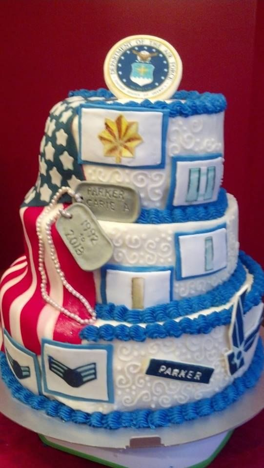 air force retirement cake for major with ranks from career