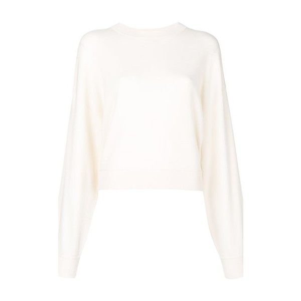 THEORY 'Verlina' White Cashmere Jumper ($446) ❤ liked on Polyvore ...