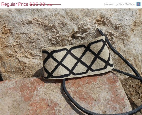 ON SALE Leather Cuff Bracelet with Hand by FaeMoonWolfDesigns, $18.75