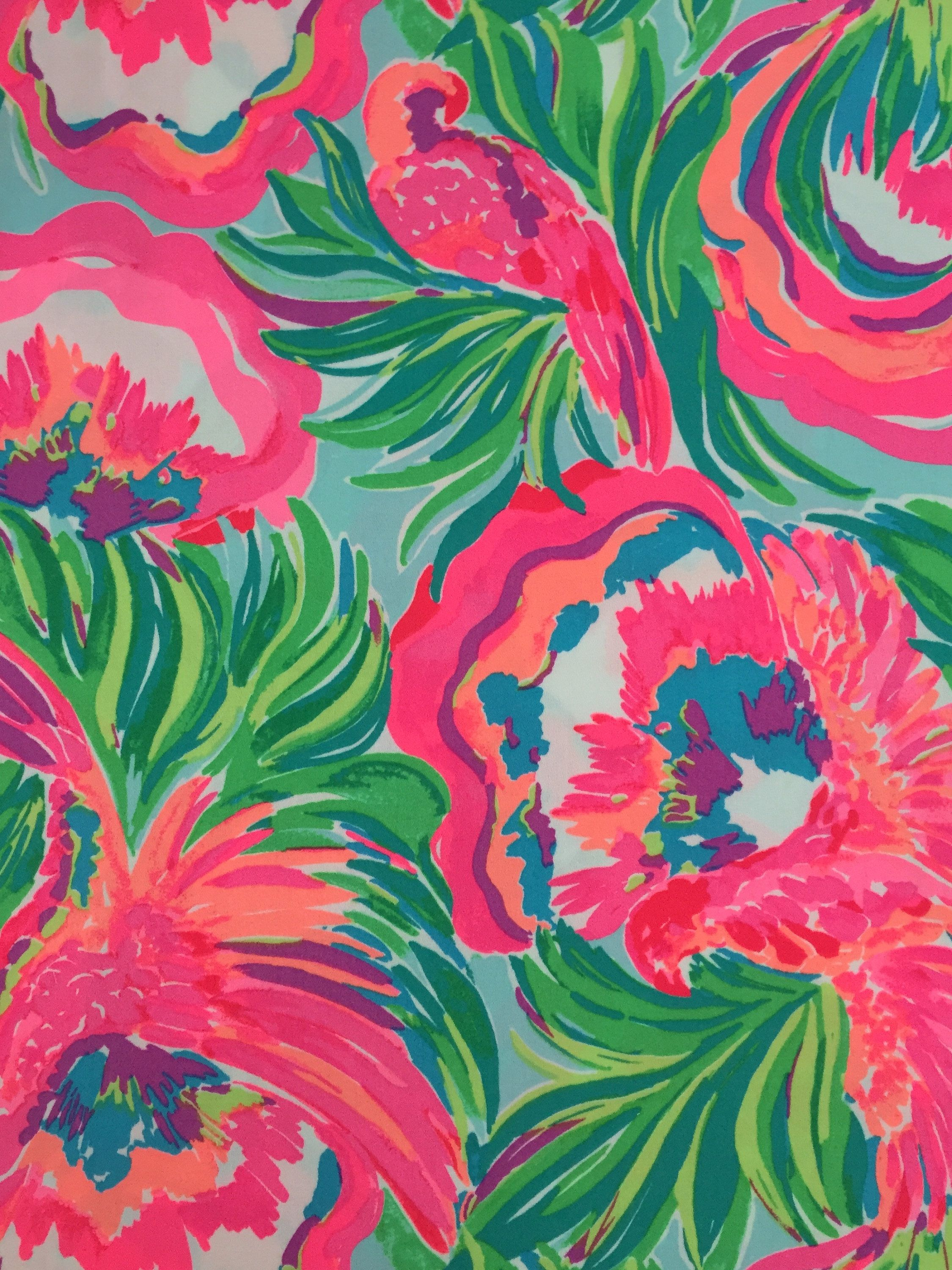 Medium Of Lilly Pulitzer Fabric