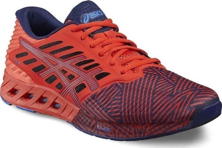 ASICS FuzeX fuze x men run running shoes NEW vermilion