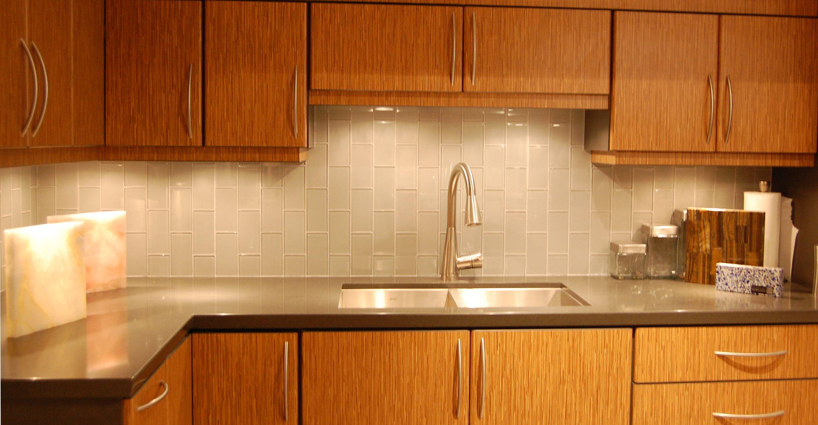 Smoke Glass Subway Tile Kitchen tiles design, Wooden