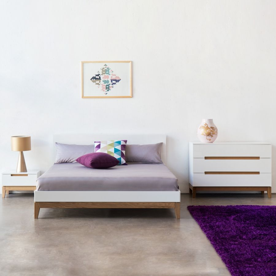 Bett Dahlia Bed Bett Eiche Bett Und Bett Weiß 180x200