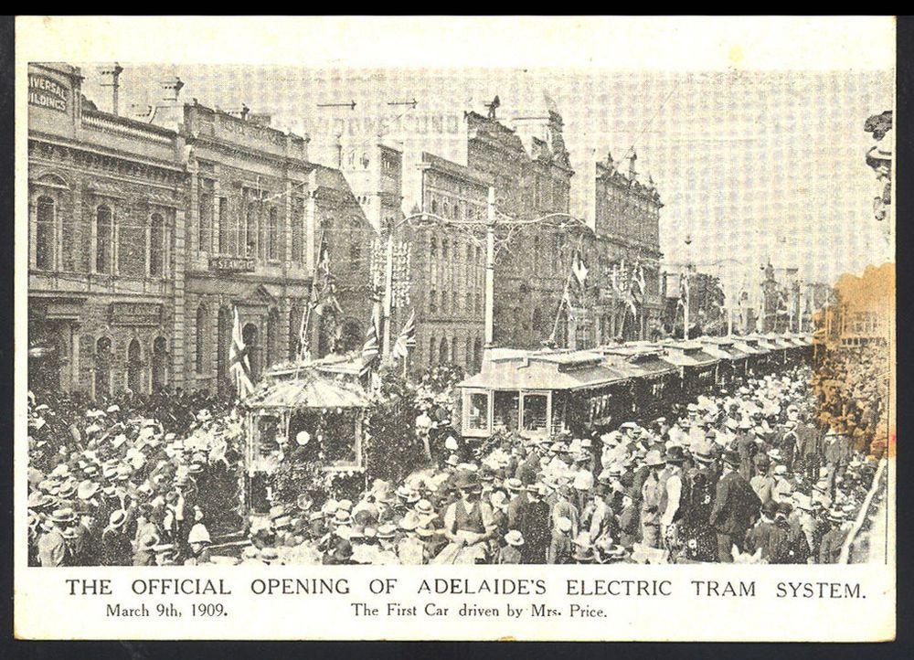 1909 South Australia TRAM OPENING Postcard S3 Postcard