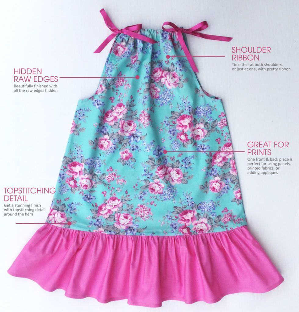 Emily - Pillow case dress sewing pattern for beginner sewing projects