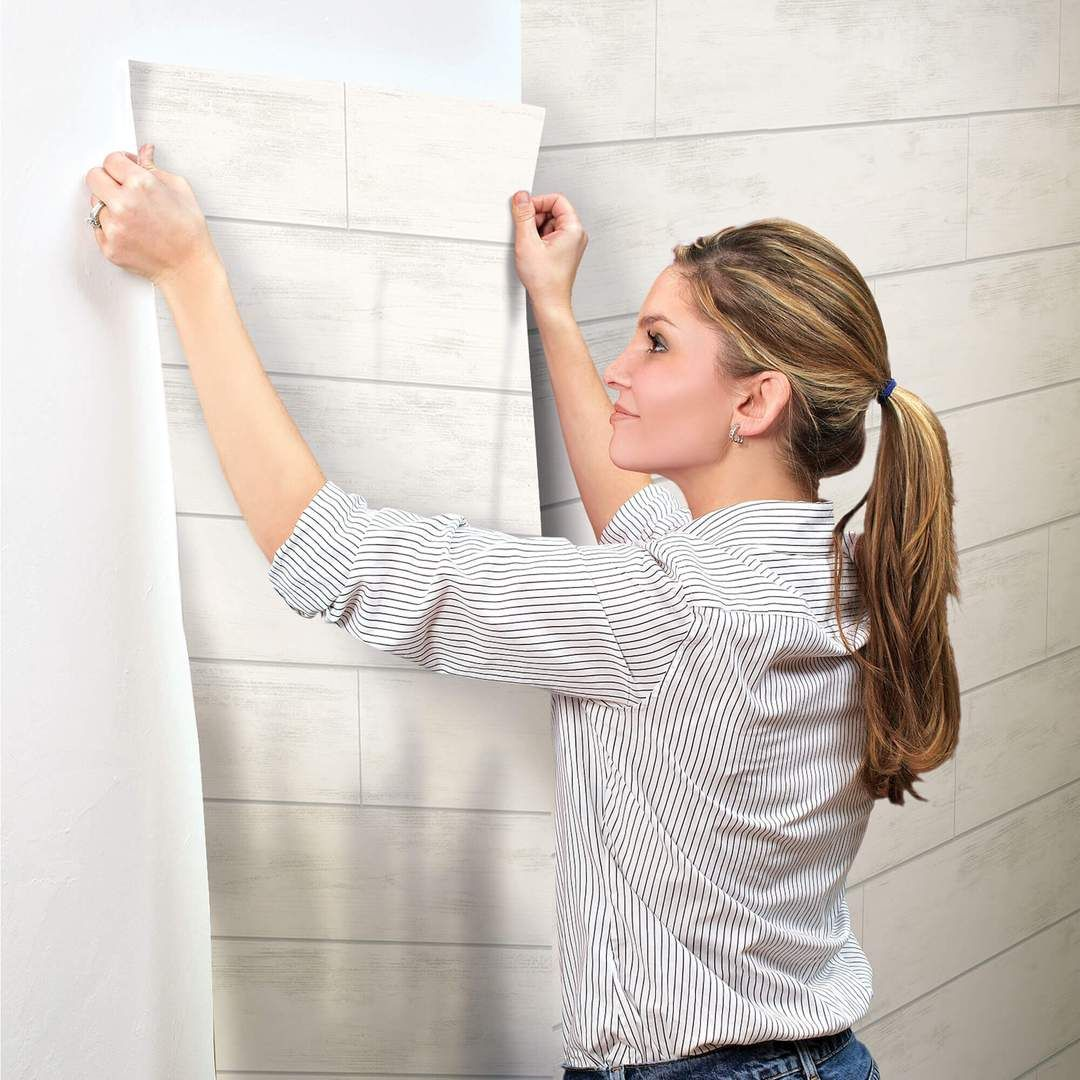 Magnolia Home Shiplap Wallpaper Cool White Grey