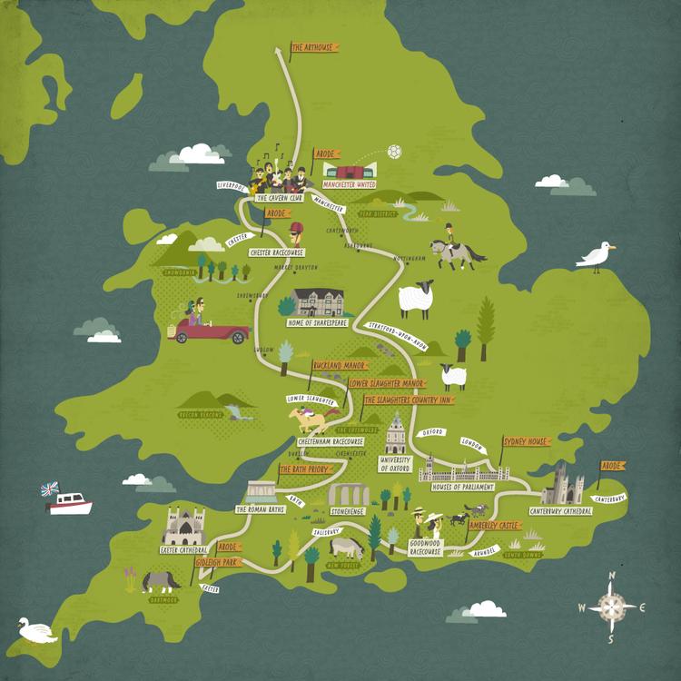 Brownsword Hotels Desenhos Mapa
