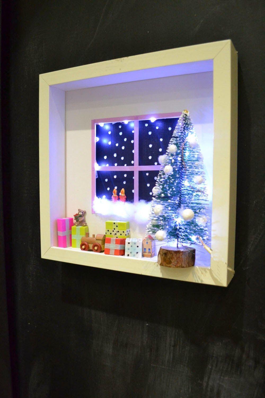 Crafting Create A Christmas Shadow Box Scene Mommo Design Xmas