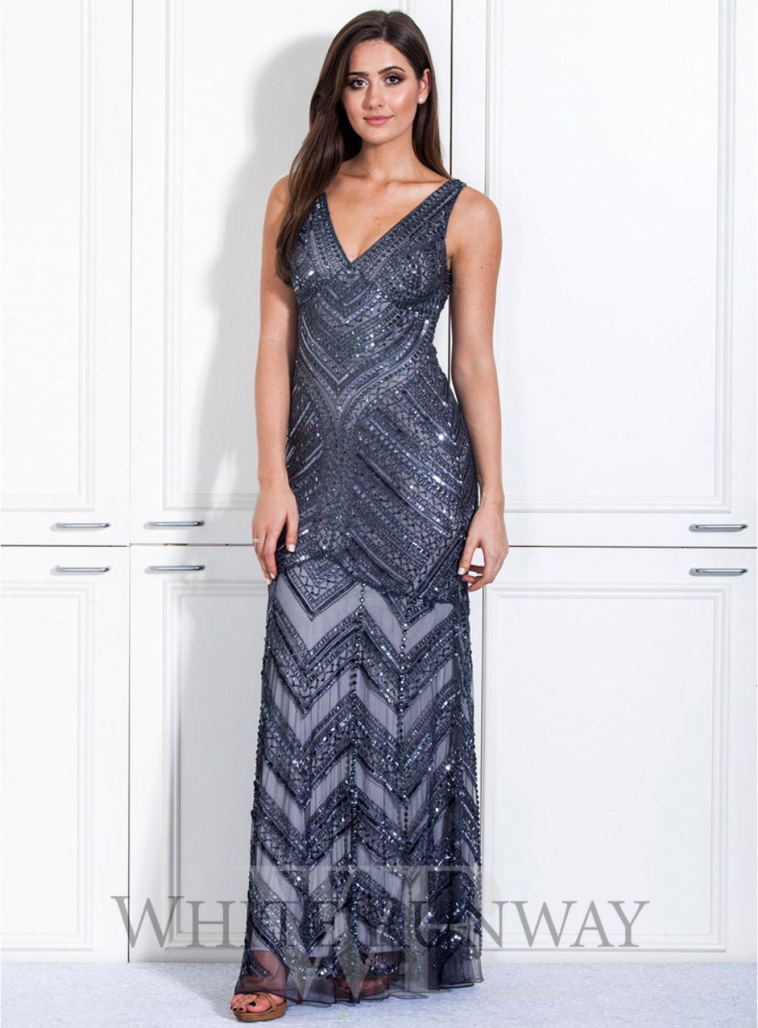 Leona Dress. A stunning full length dress by Mr K. A