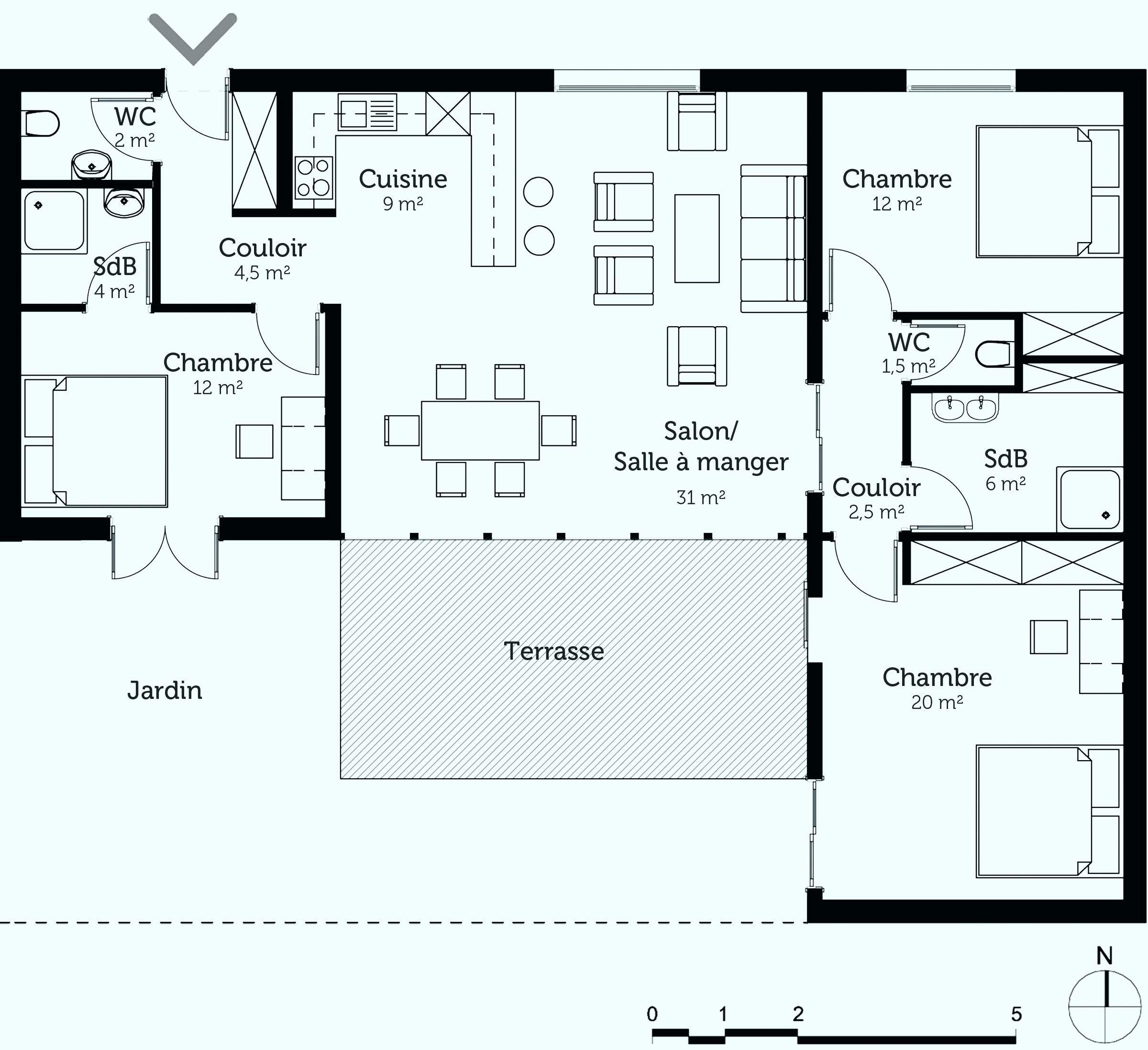 Maison En Longueur Avec Patio Meilleur De Maison En Longueur Avec Patio Unique Plan Maison Terr Plan Maison Plain Pied Maison Plain Pied Plan Maison Plein Pied
