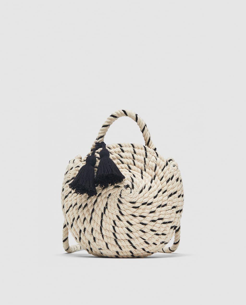 bdb0a574b221fb Image 2 of BRAIDED COTTON MINI TOTE BAG from Zara Bag Sale, Fashion Handbags ,