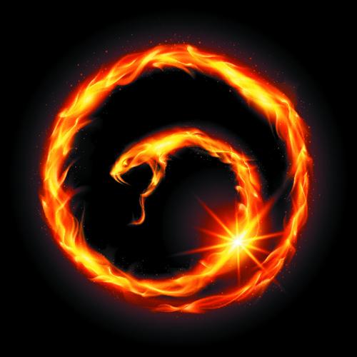 Fire Snake Snake Illustration Fire Snake Snake Art