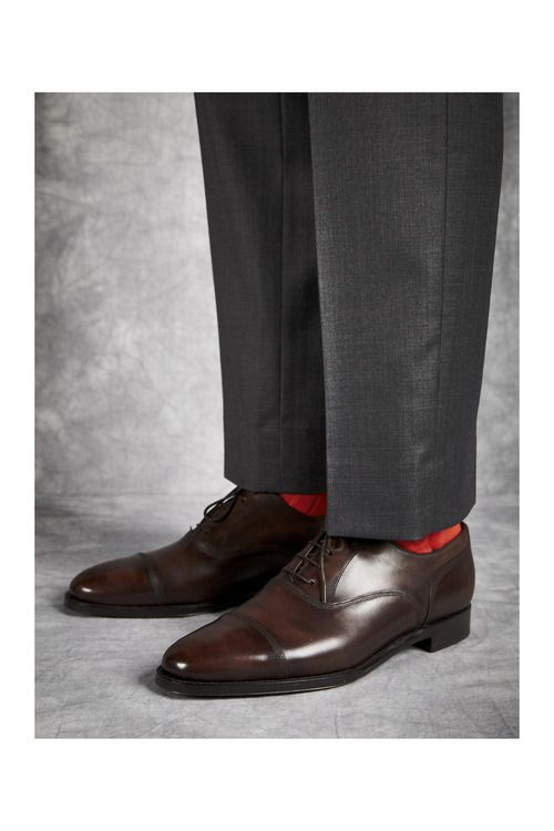 Magnolia in antique brown, with colourful socks! http://www.theshoesnobblog.com/