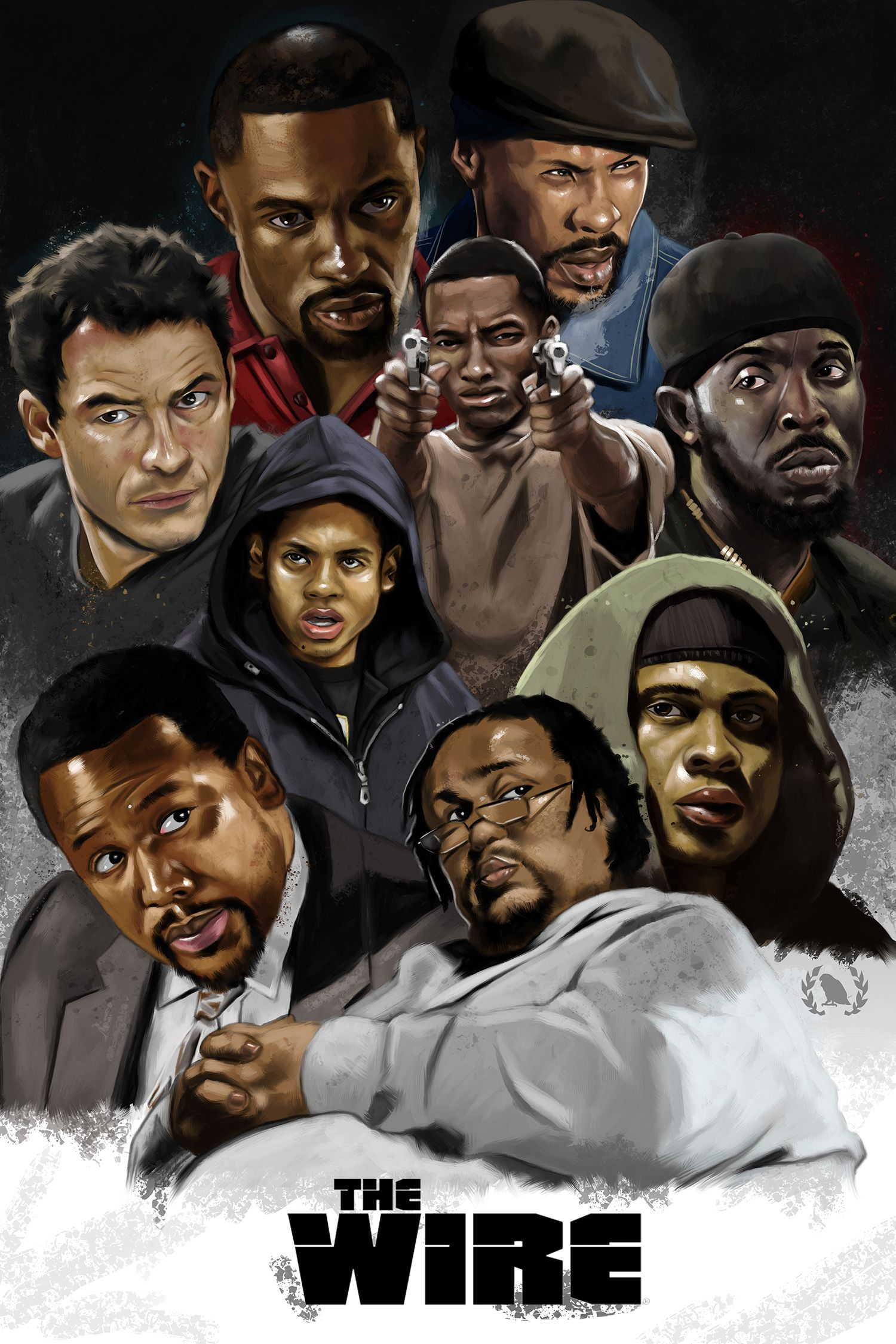 The Wire Hbo | The Wire Fan Art Art The Wire Tv Show The Wire Hbo Black Tv Shows