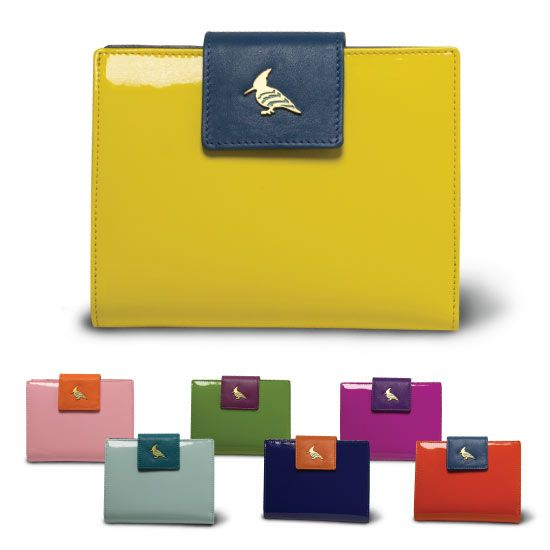 Make a statement with these colorful, unique Italian wallets.