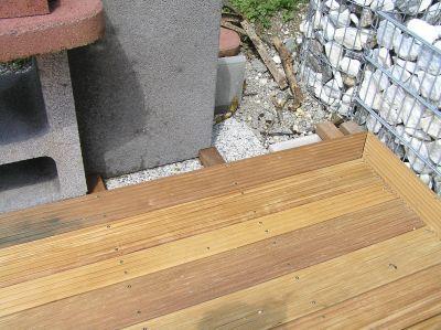 Holzterrasse Abschluss Mit G Hrung