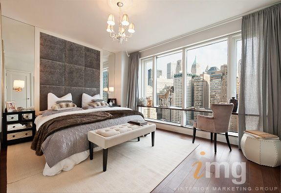 tall headboardbed visionaire in nyc contemporary bedroom new york lo chen design