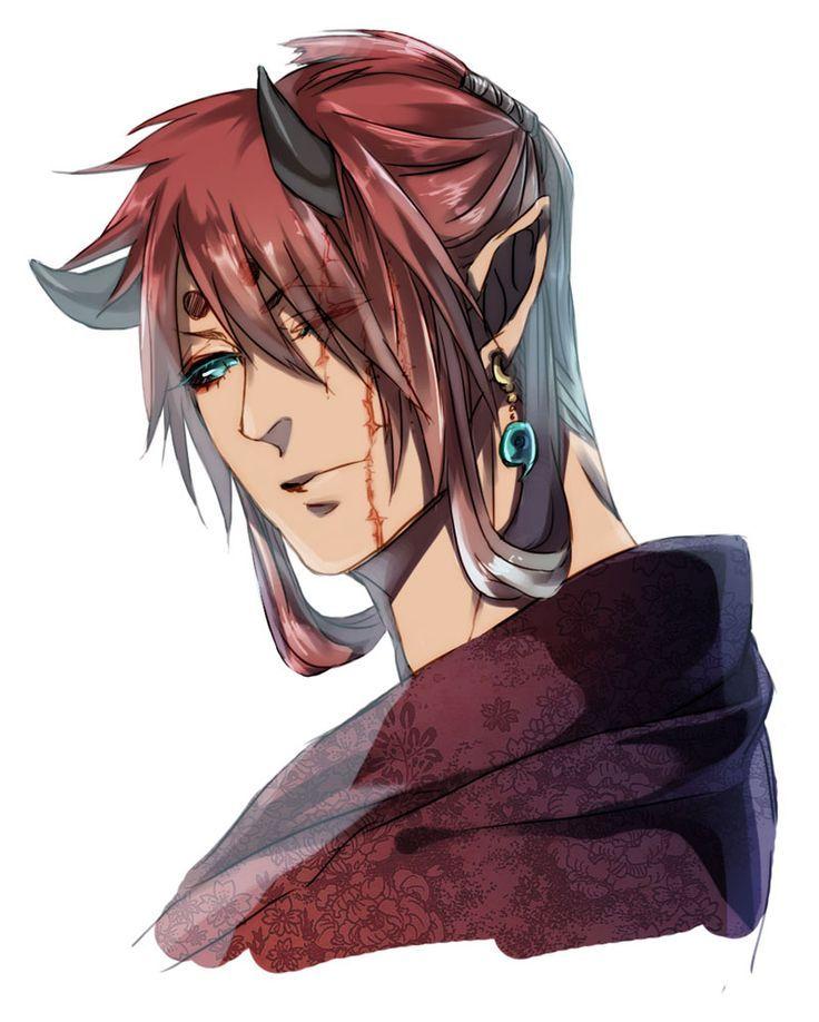 0a947d66ed39d964a9f90df69e1b6043 Jpg 736 918 Anime Demon Boy Anime Guy Long Hair Anime Red Hair