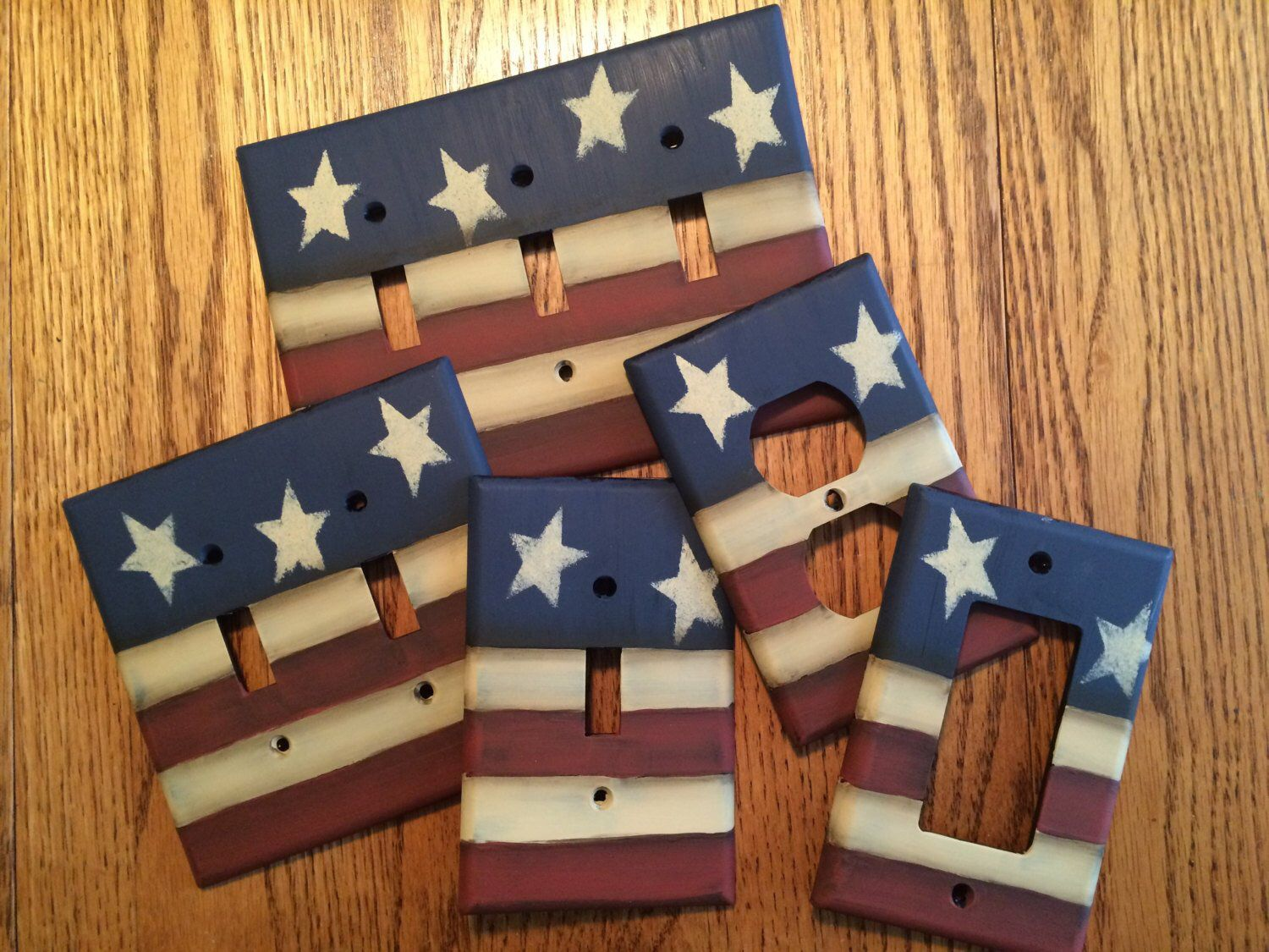 American Flag Light Switch Cover, switch plate cover