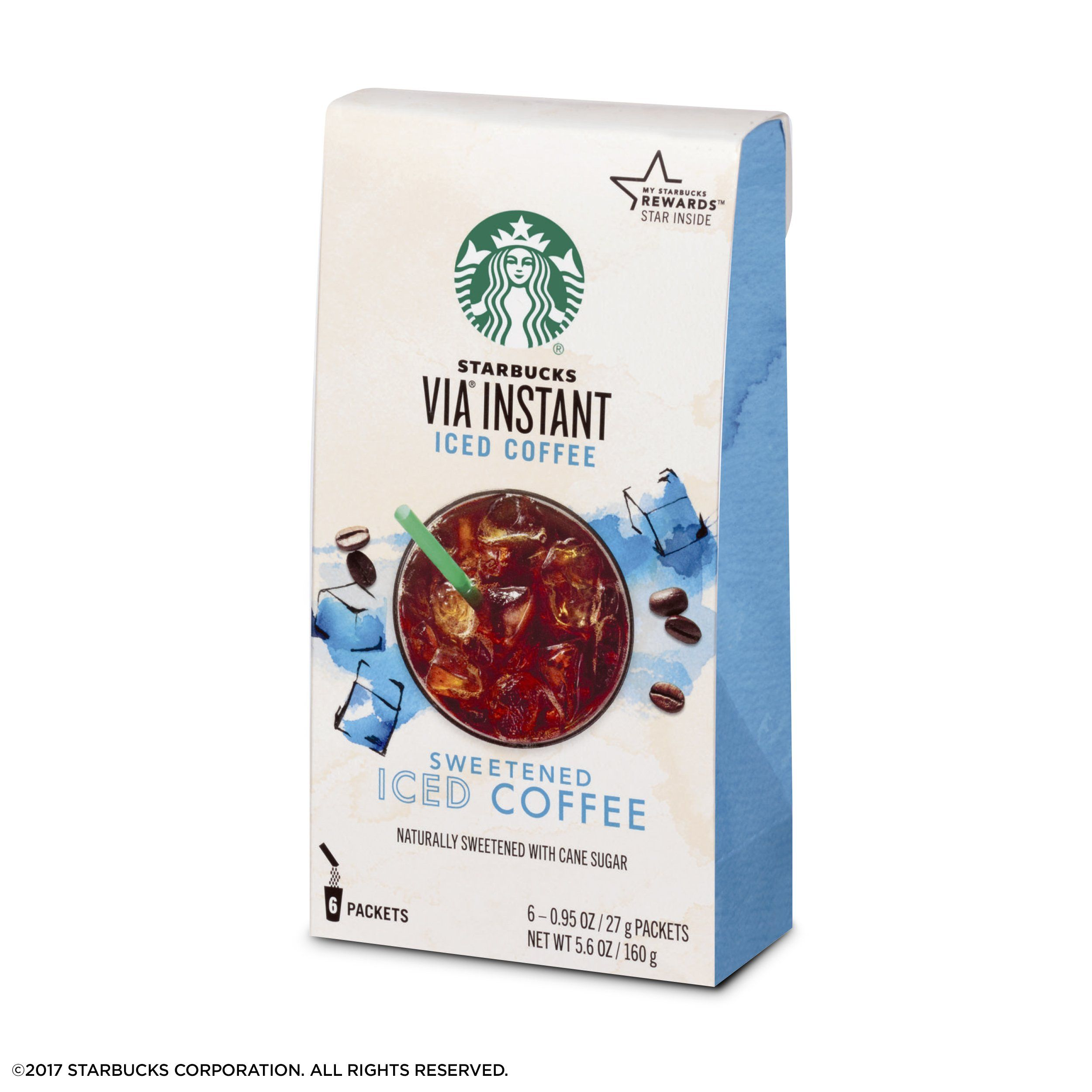 Starbucks Via Instant Sweetened Iced Coffee 1 Box Of 6