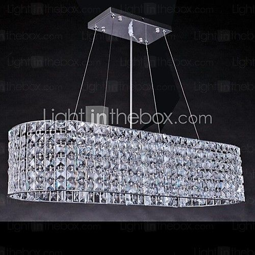10W Modern/Contemporary Chrome Crystal Chandeliers Living Room - CAD $508.73
