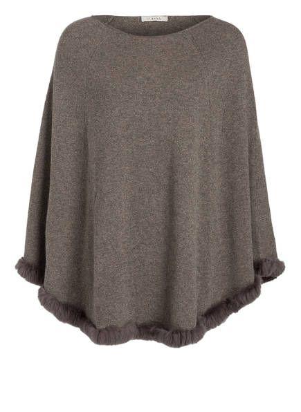 lilienfels cashmere poncho mit pelzbesatz m ntel pinterest mantel pelz und wolle kaufen. Black Bedroom Furniture Sets. Home Design Ideas