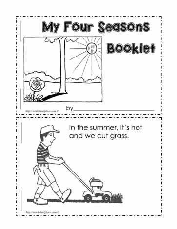Seasons Worksheets For Kindergarten Pdf