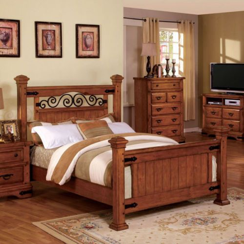 Sonoma Mission Style American Oak Finish Bed Frame | beds in ...